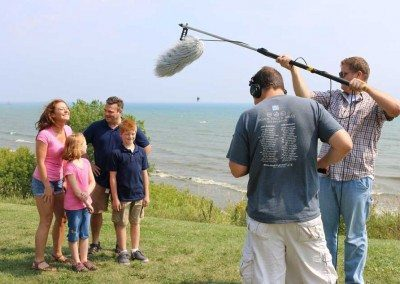 Filming for Discover Wisconsin