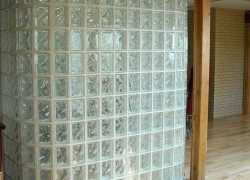 Glass Block Privacy Wall